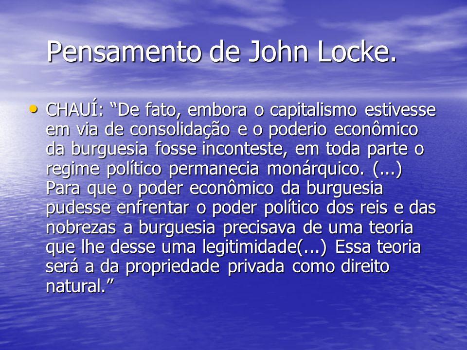 Pensamento de John Locke.