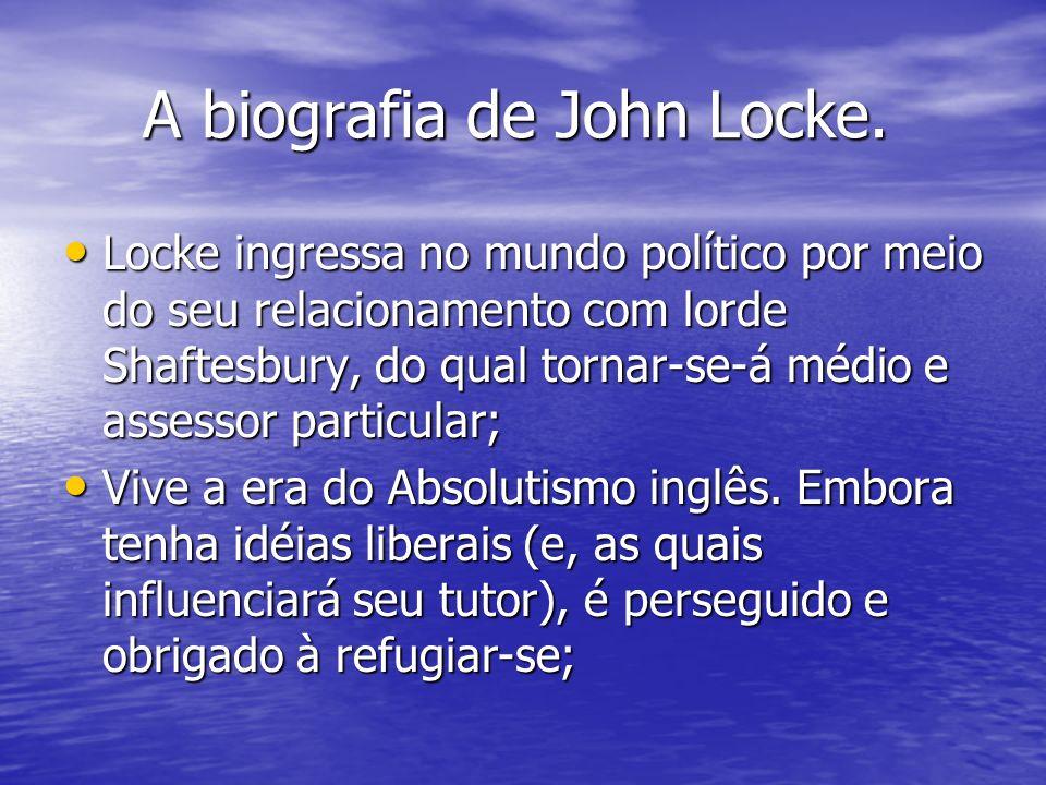 A biografia de John Locke.