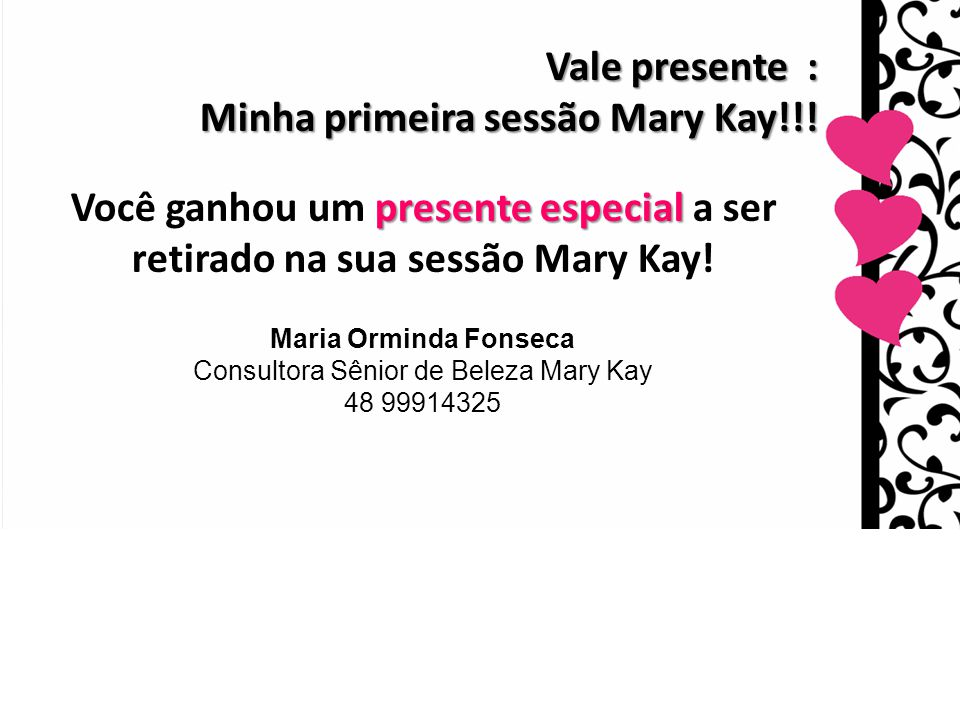 Consultora Sênior de Beleza Mary Kay