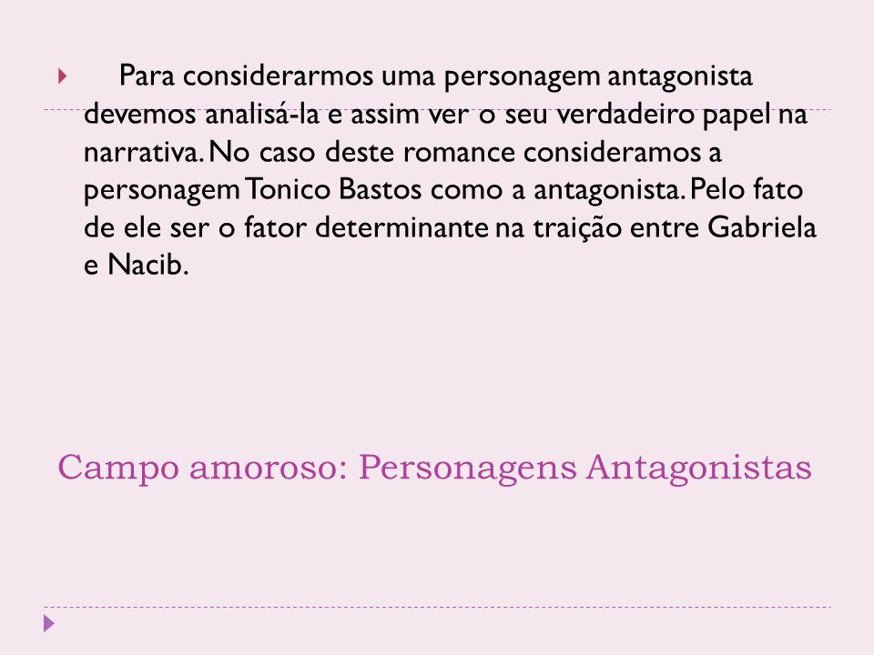 Campo amoroso: Personagens Antagonistas