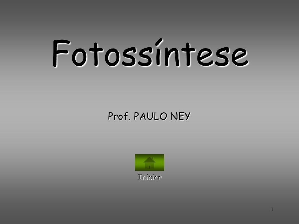 Fotossíntese Prof. PAULO NEY Iniciar