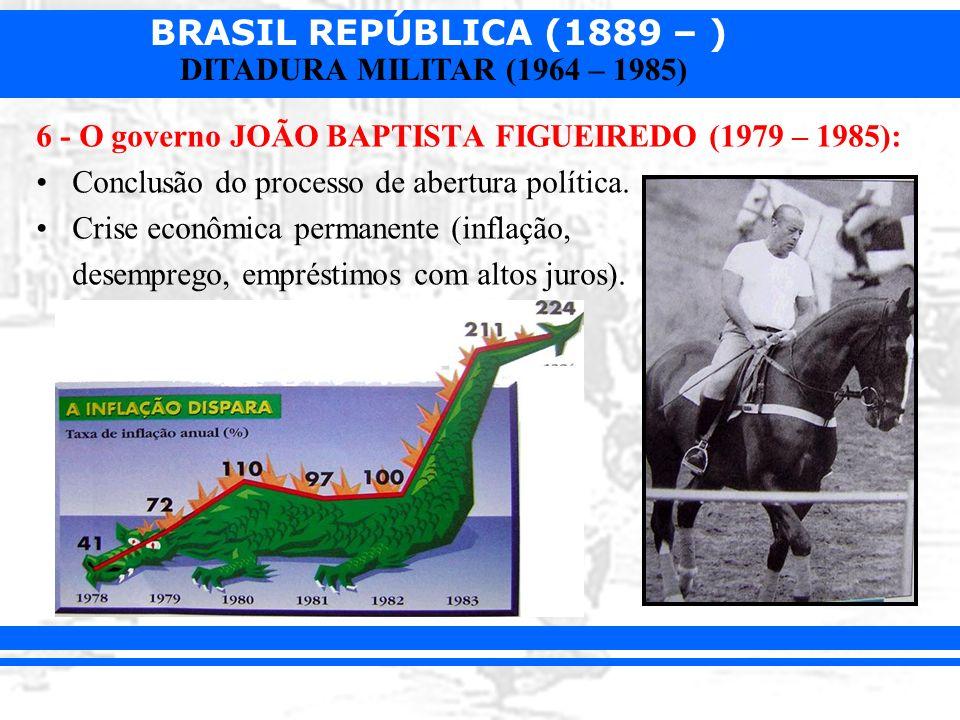 6 - O governo JOÃO BAPTISTA FIGUEIREDO (1979 – 1985):