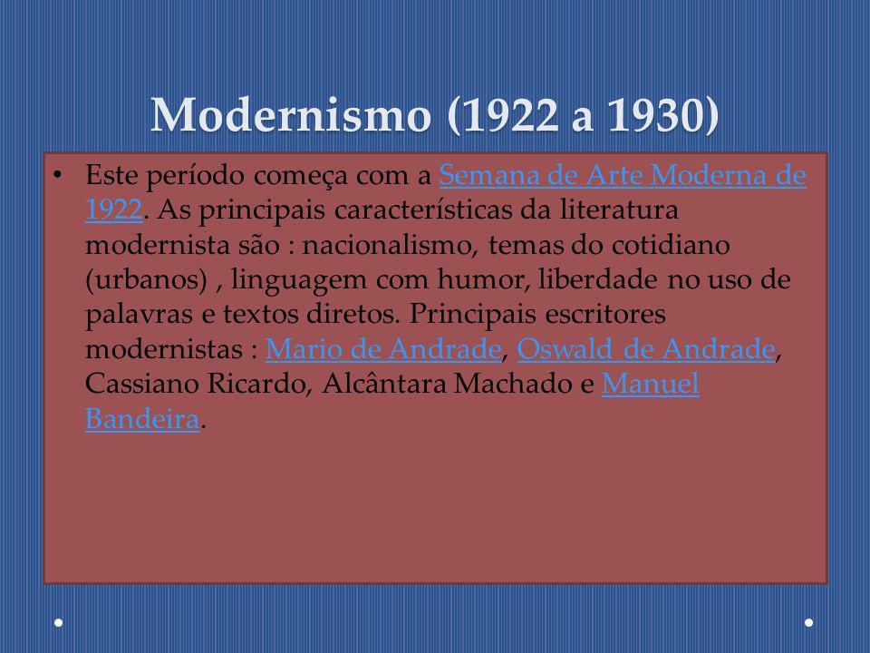 Modernismo (1922 a 1930)