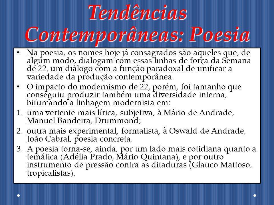 Tendências Contemporâneas: Poesia