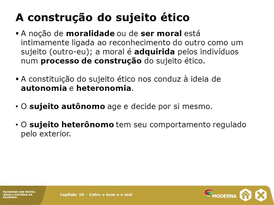 A construção do sujeito ético