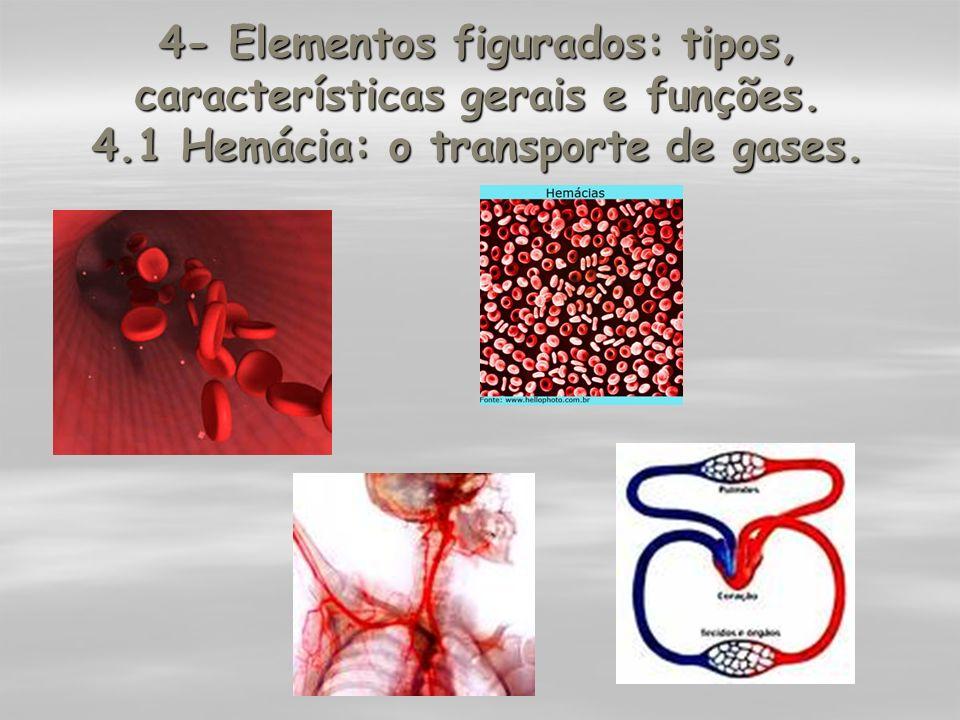 4- Elementos figurados: tipos, características gerais e funções. 4