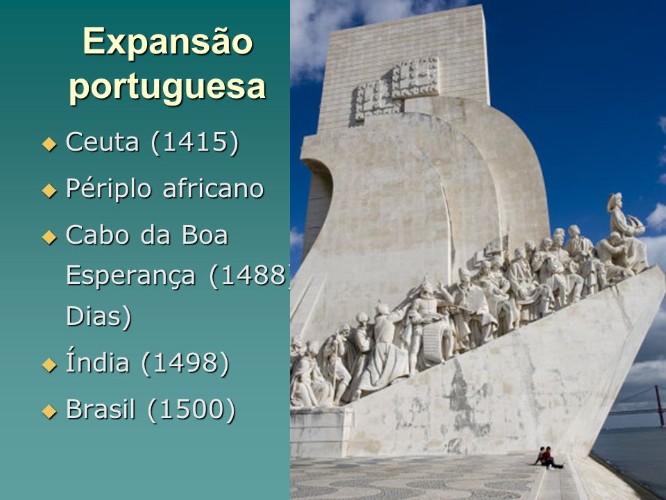 Expansão portuguesa Ceuta (1415) Périplo africano