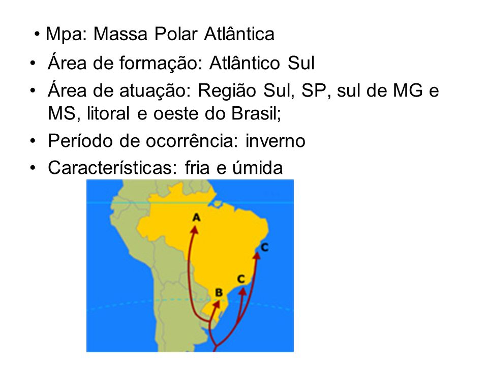 Mpa: Massa Polar Atlântica