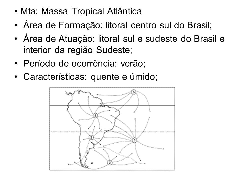 Mta: Massa Tropical Atlântica