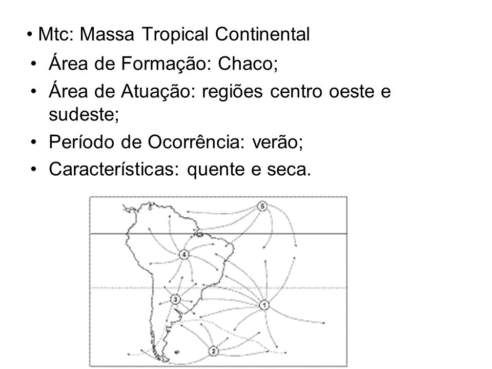 Mtc: Massa Tropical Continental