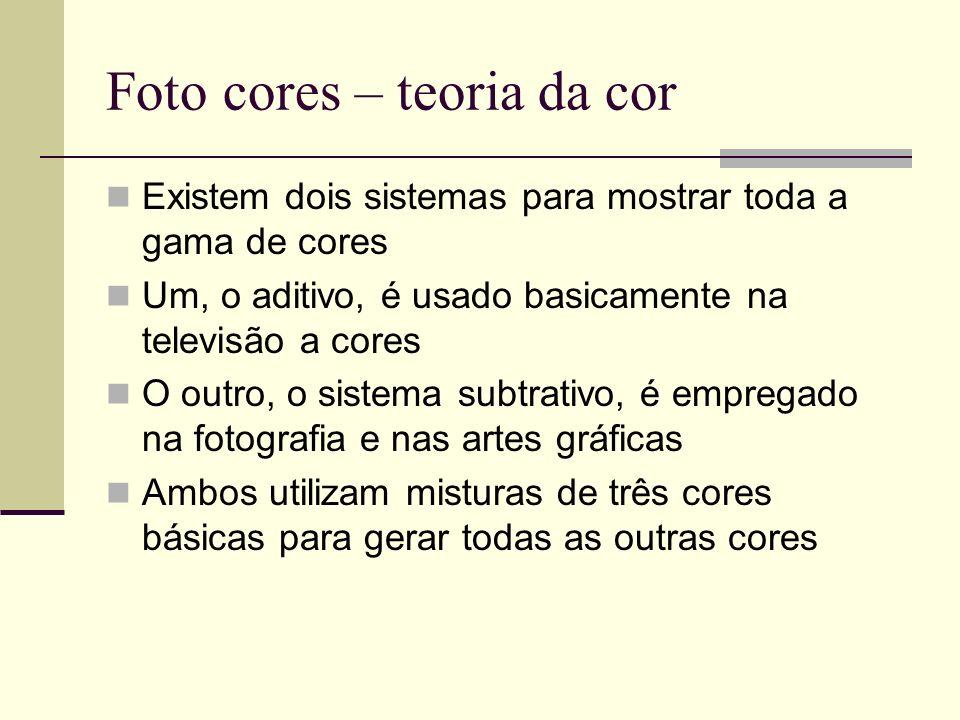 Foto cores – teoria da cor