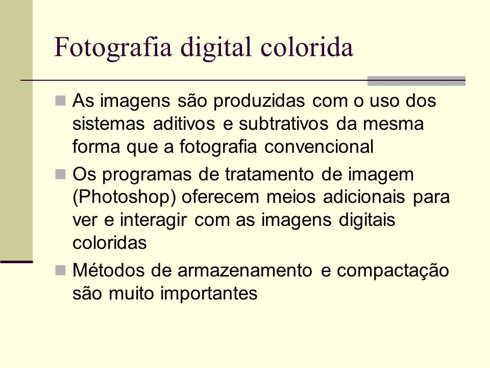 Fotografia digital colorida