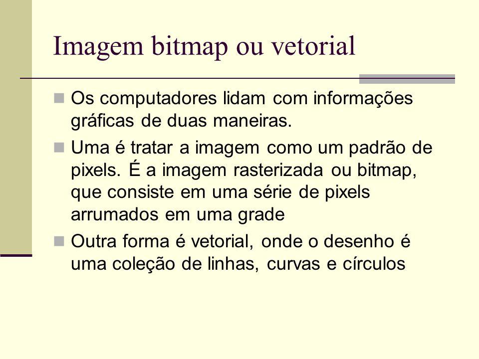 Imagem bitmap ou vetorial