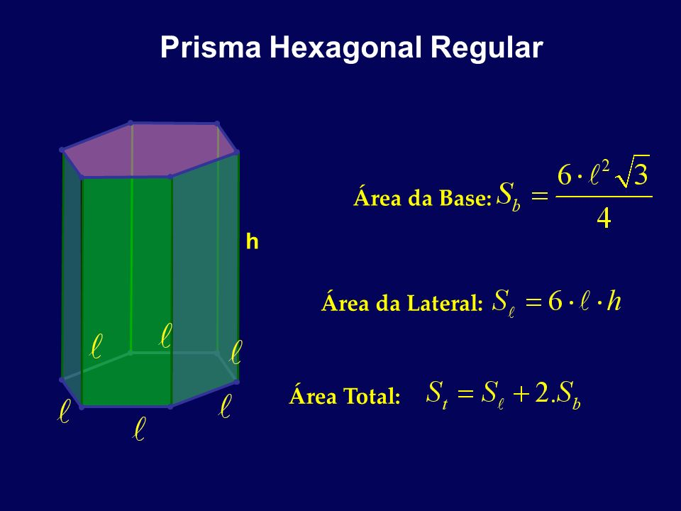 Prisma Hexagonal Regular