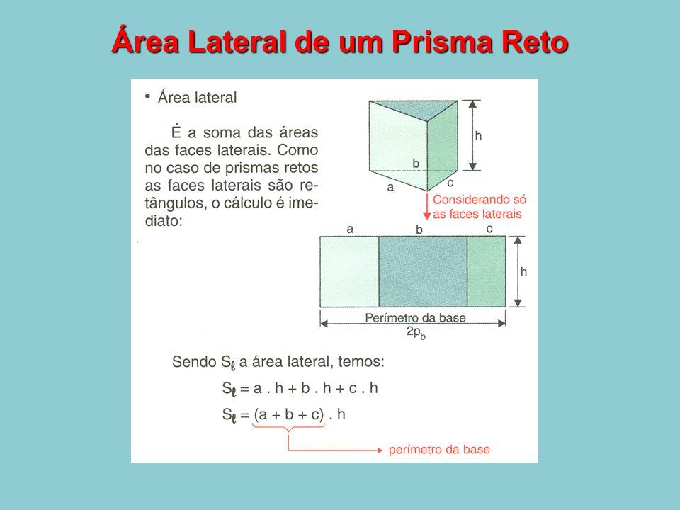 Área Lateral de um Prisma Reto