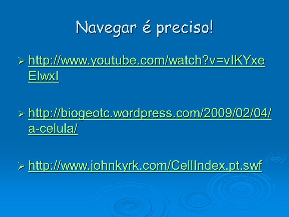 Navegar é preciso! http://www.youtube.com/watch v=vIKYxeElwxI