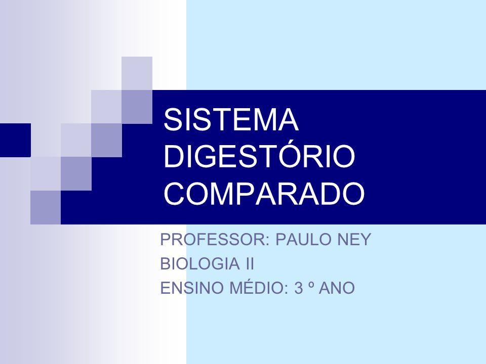 SISTEMA DIGESTÓRIO COMPARADO