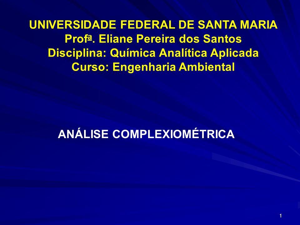 UNIVERSIDADE FEDERAL DE SANTA MARIA Profa. Eliane Pereira dos Santos