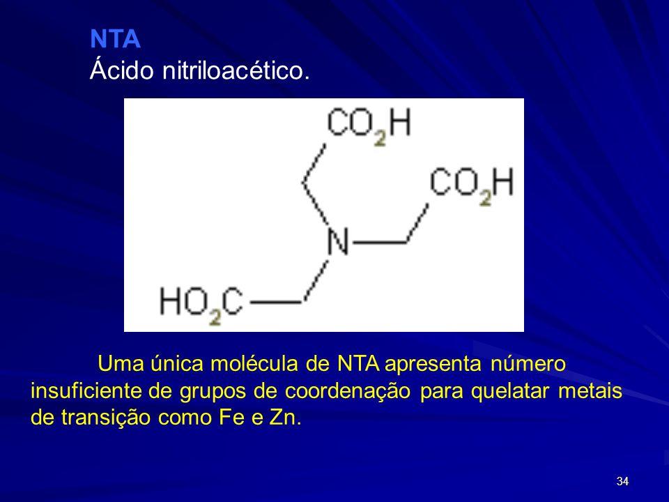 NTA Ácido nitriloacético.