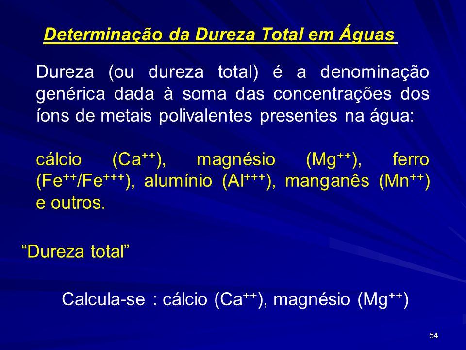 Determinação da Dureza Total em Águas