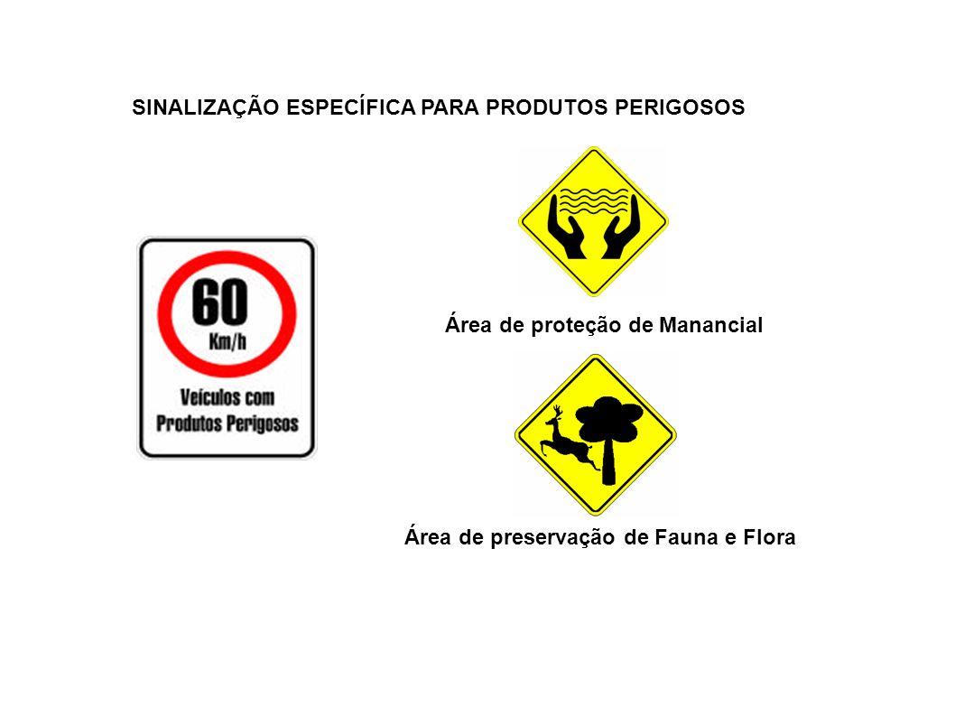 SINALIZAÇÃO ESPECÍFICA PARA PRODUTOS PERIGOSOS