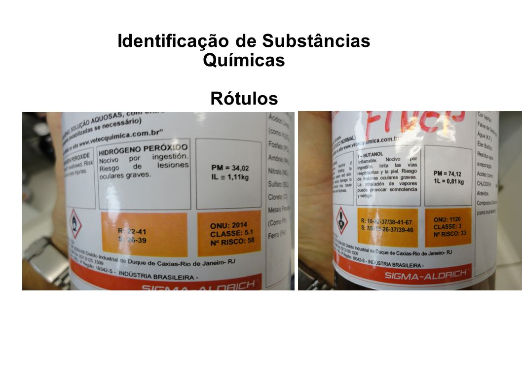 Identificação de Substâncias Químicas