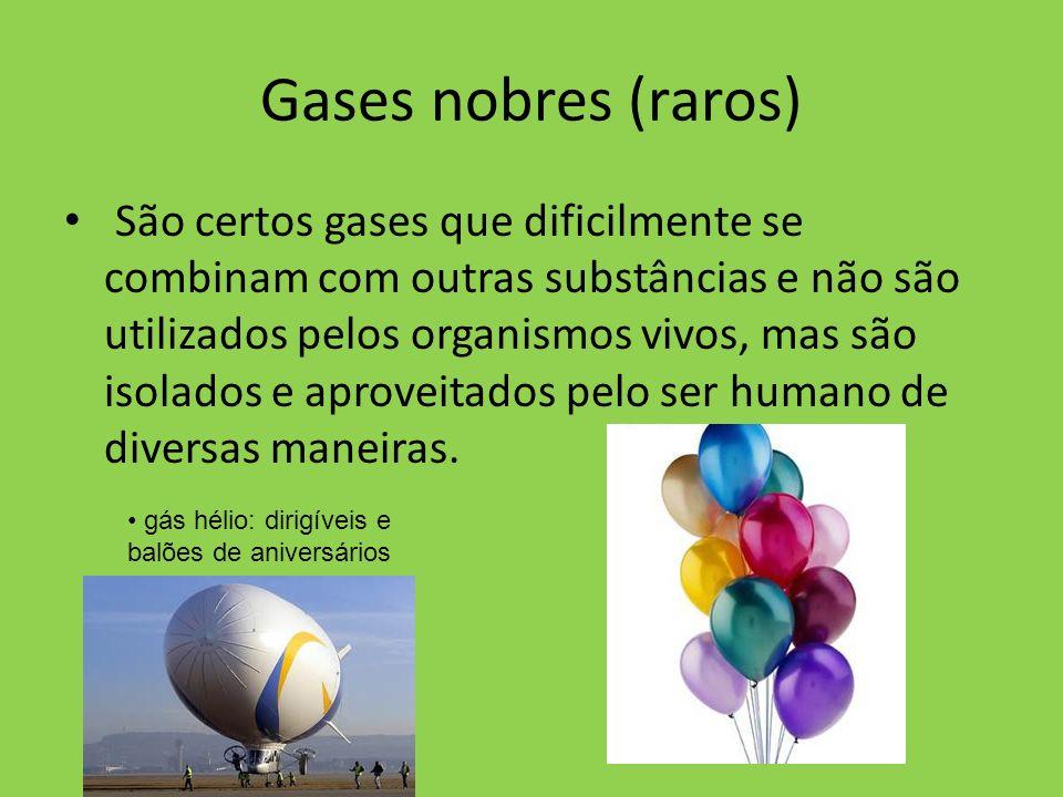 Gases nobres (raros)