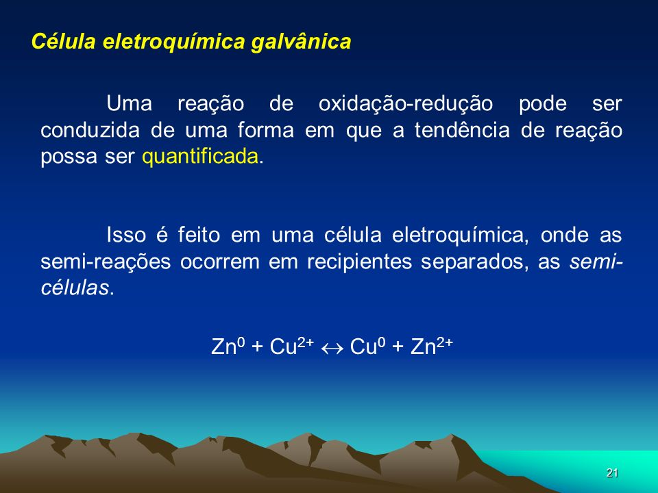 Célula eletroquímica galvânica