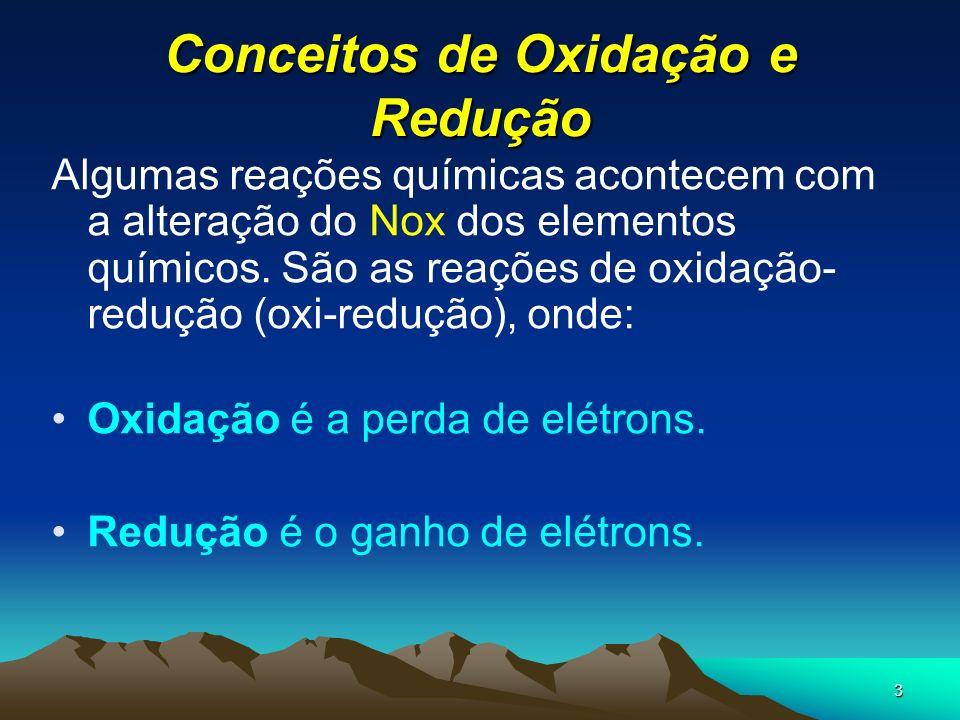 Conceitos de Oxidação e Redução