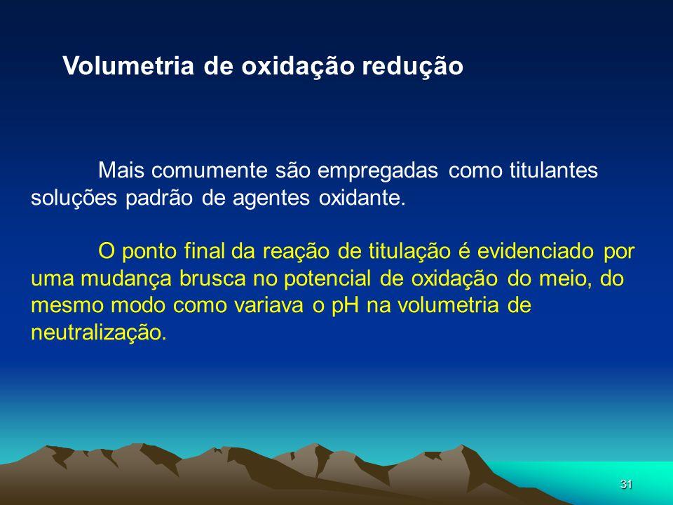 Volumetria de oxidação redução
