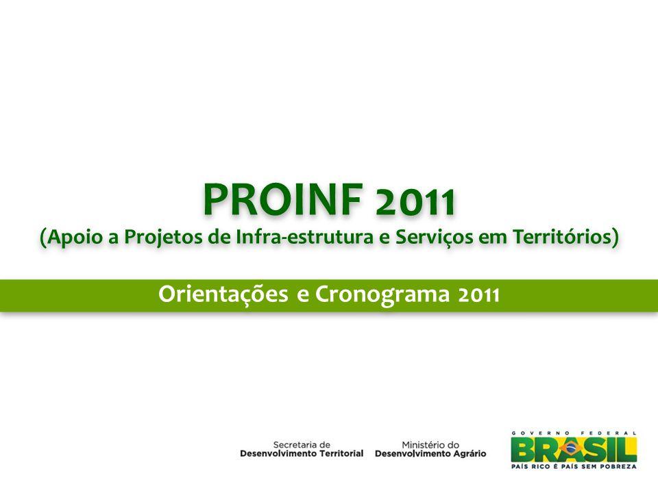 PROINF 2011 Orientações e Cronograma 2011