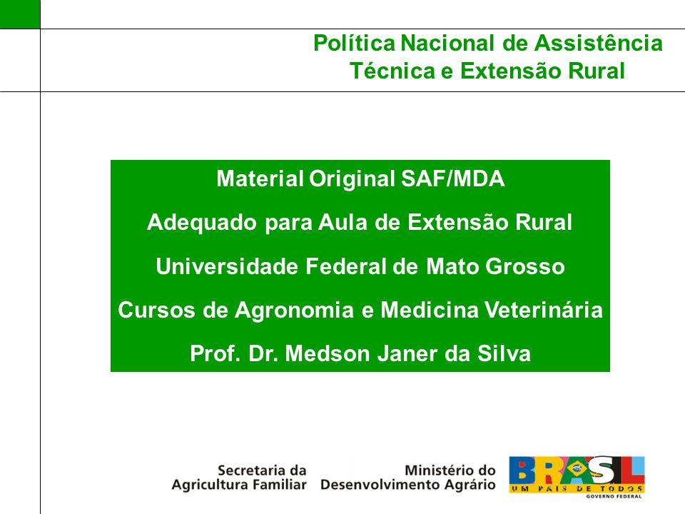 Material Original SAF/MDA Adequado para Aula de Extensão Rural