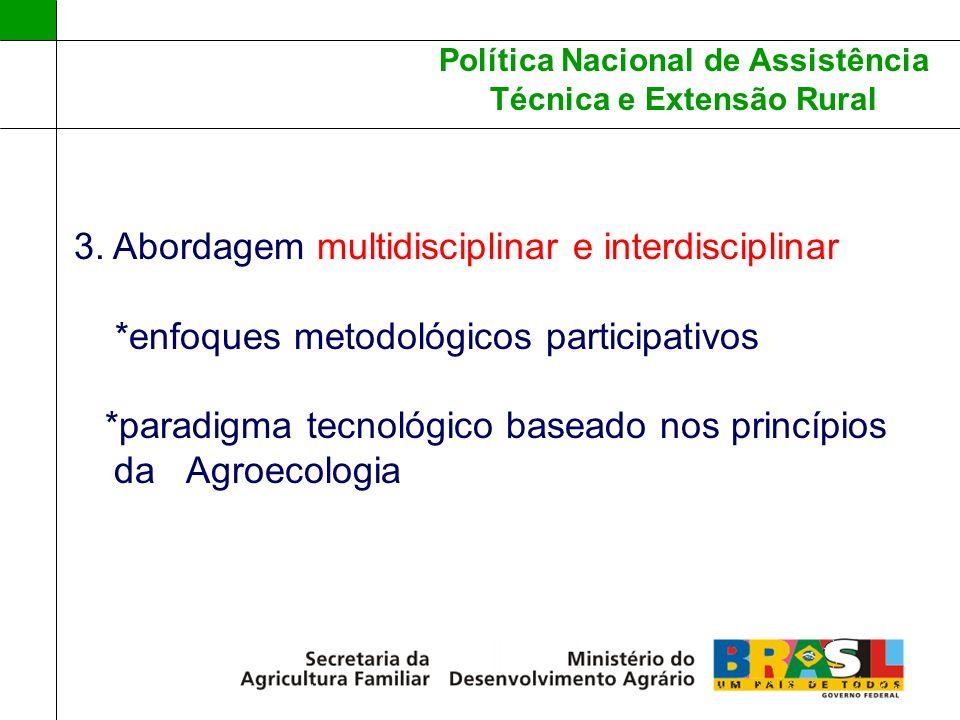 3. Abordagem multidisciplinar e interdisciplinar