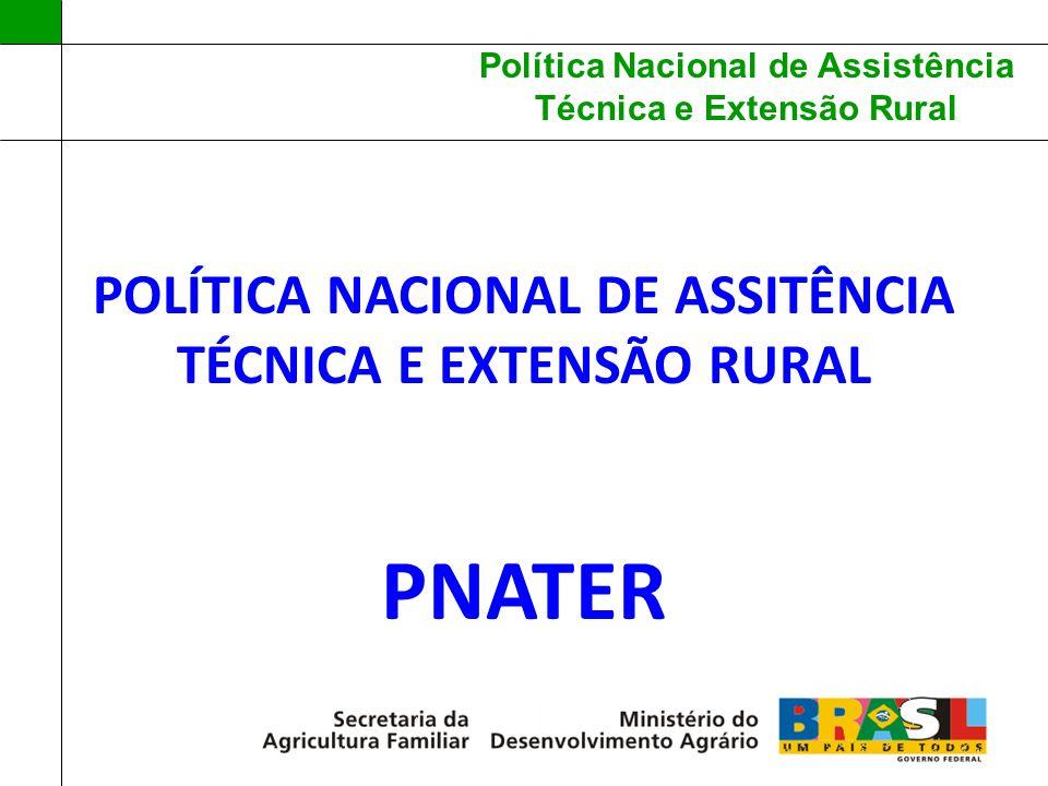 POLÍTICA NACIONAL DE ASSITÊNCIA TÉCNICA E EXTENSÃO RURAL