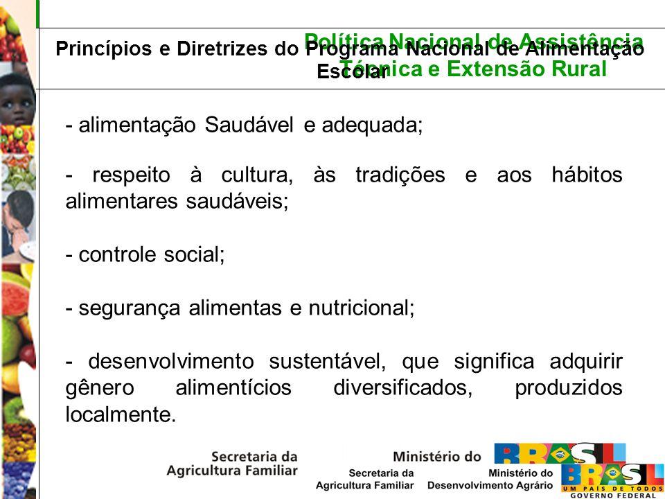 Princípios e Diretrizes do Programa Nacional de Alimentação