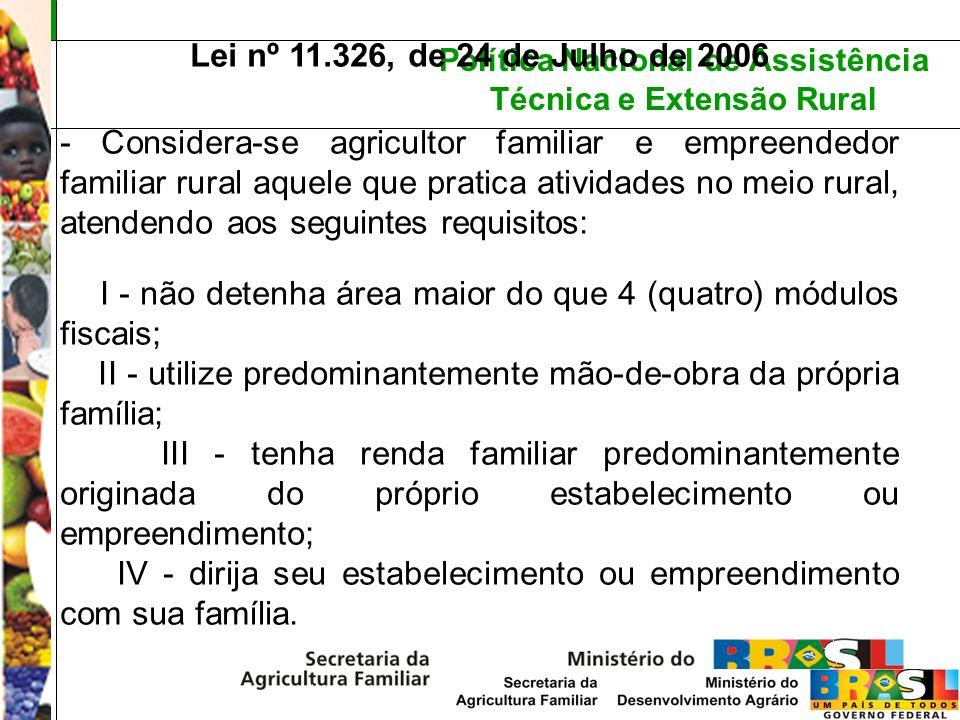 Lei nº 11.326, de 24 de Julho de 2006