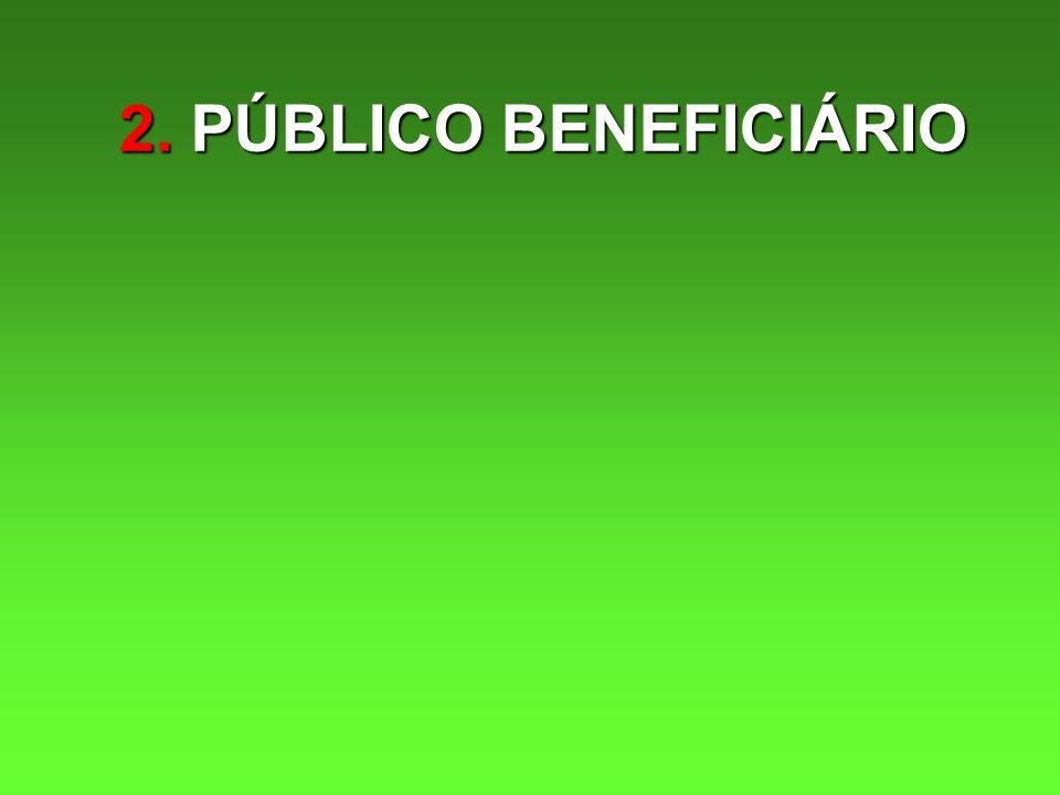 2. PÚBLICO BENEFICIÁRIO