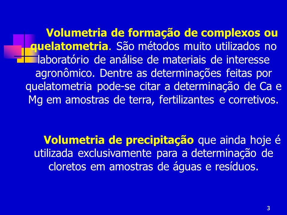 Volumetria de formação de complexos ou quelatometria