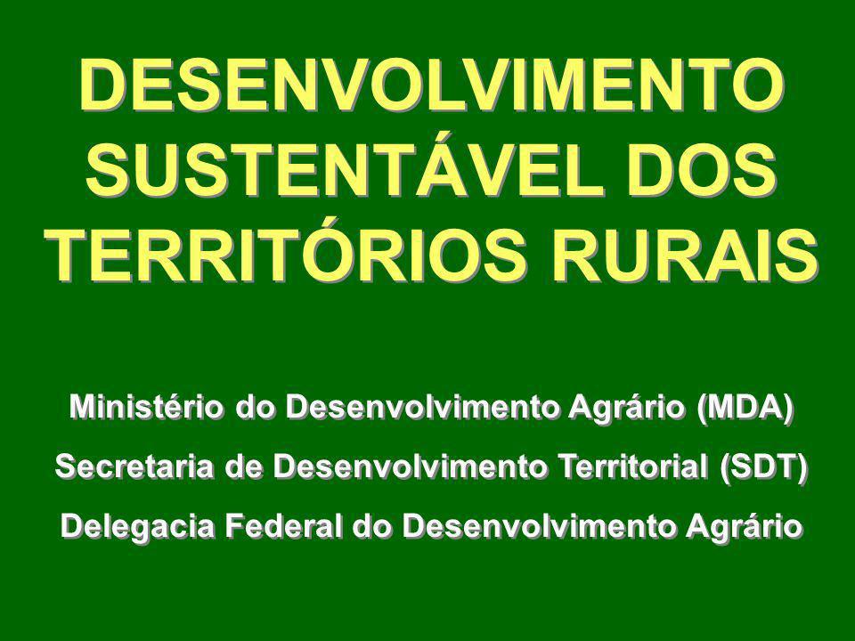 DESENVOLVIMENTO SUSTENTÁVEL DOS TERRITÓRIOS RURAIS