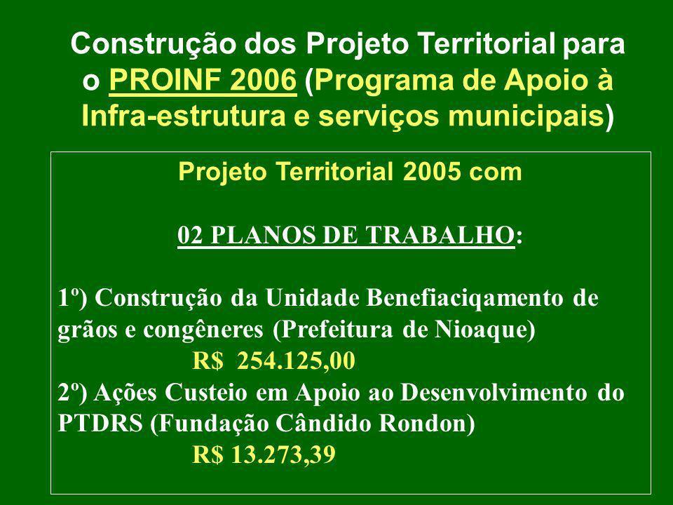 Projeto Territorial 2005 com