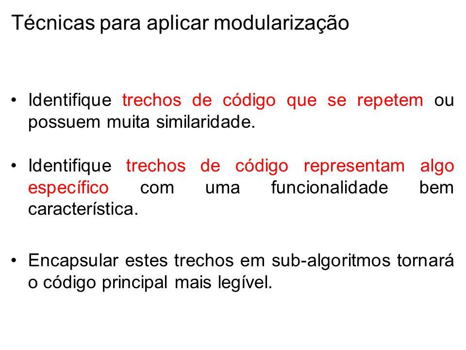 Técnicas para aplicar modularização