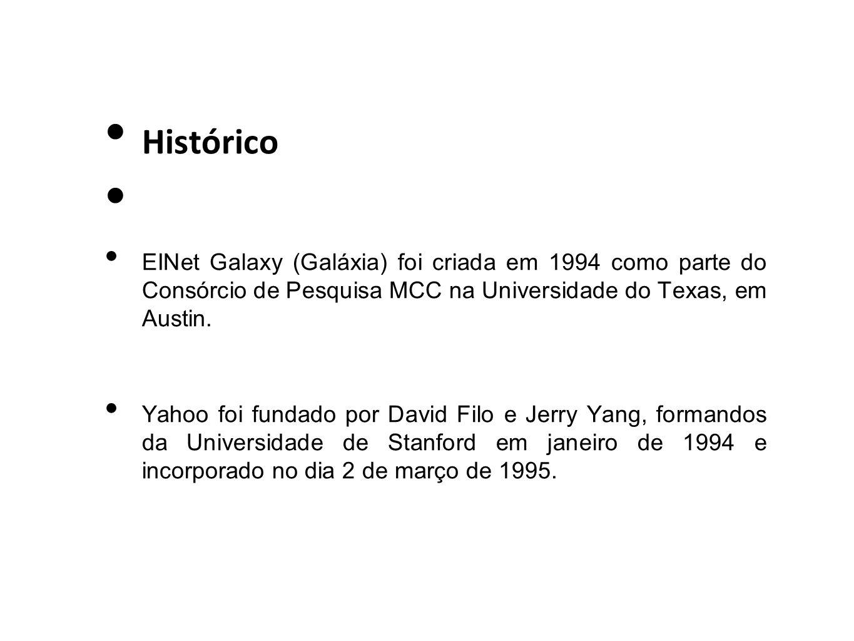 Histórico EINet Galaxy (Galáxia) foi criada em 1994 como parte do Consórcio de Pesquisa MCC na Universidade do Texas, em Austin.