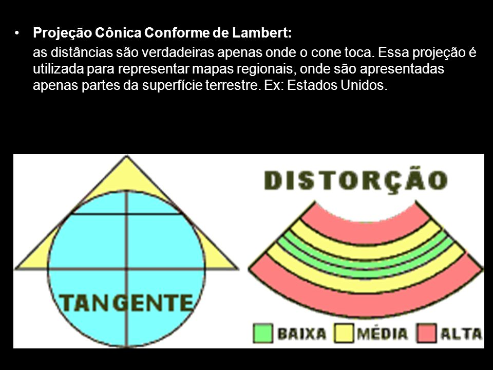 Projeção Cônica Conforme de Lambert: