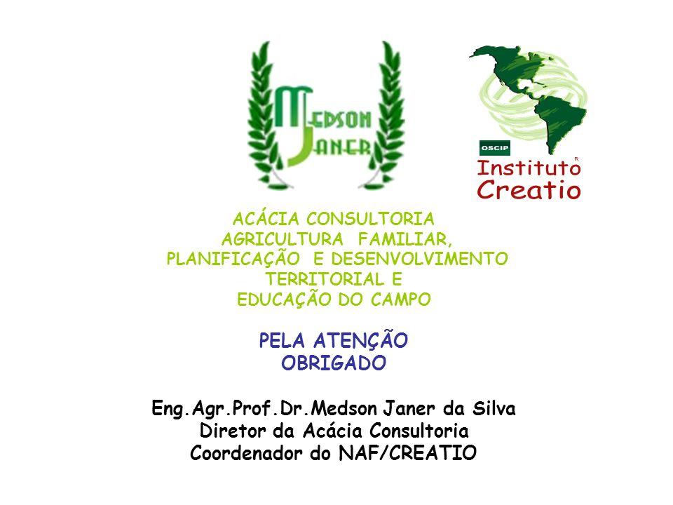 Eng.Agr.Prof.Dr.Medson Janer da Silva Diretor da Acácia Consultoria