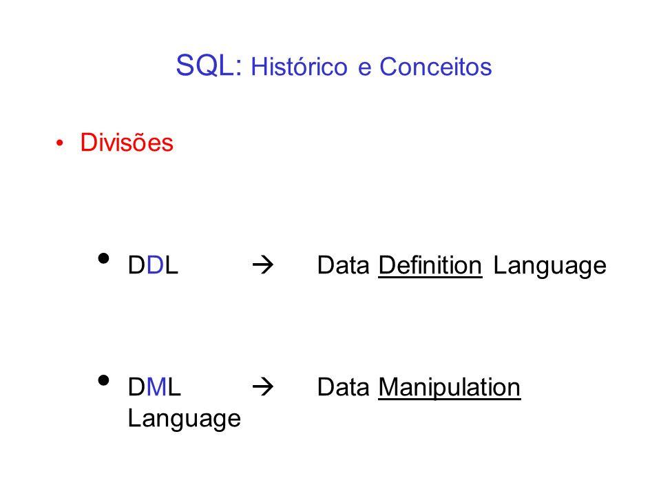 SQL: Histórico e Conceitos