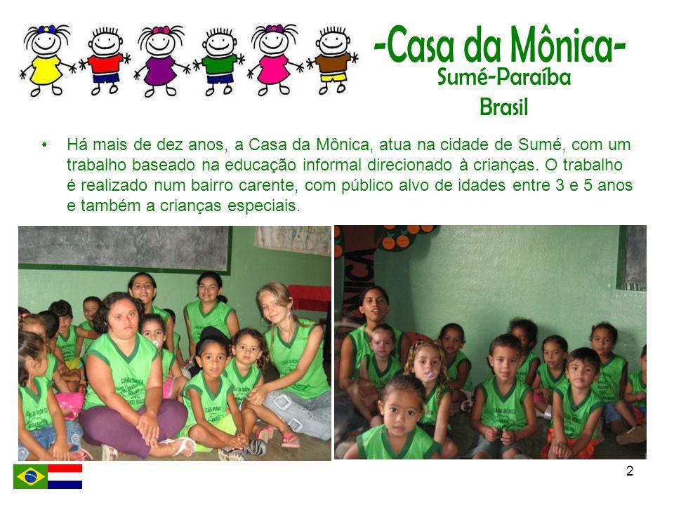 Há mais de dez anos, a Casa da Mônica, atua na cidade de Sumé, com um trabalho baseado na educação informal direcionado à crianças.