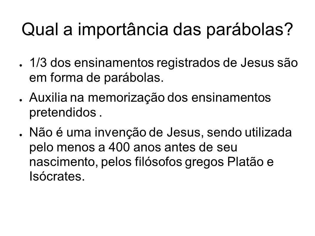 Qual a importância das parábolas