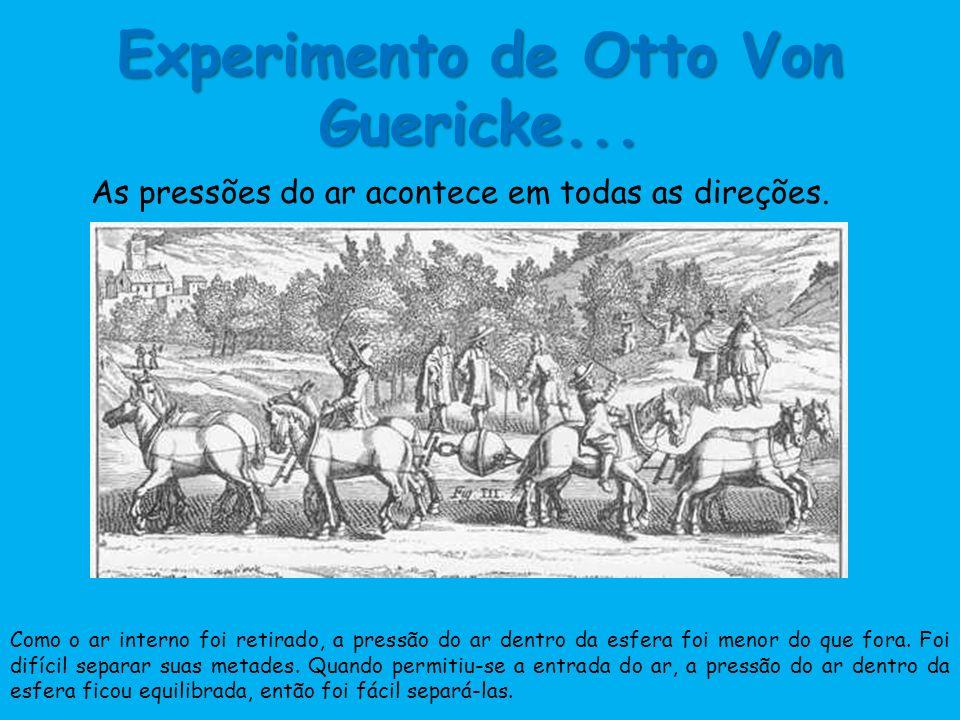 Experimento de Otto Von Guericke...