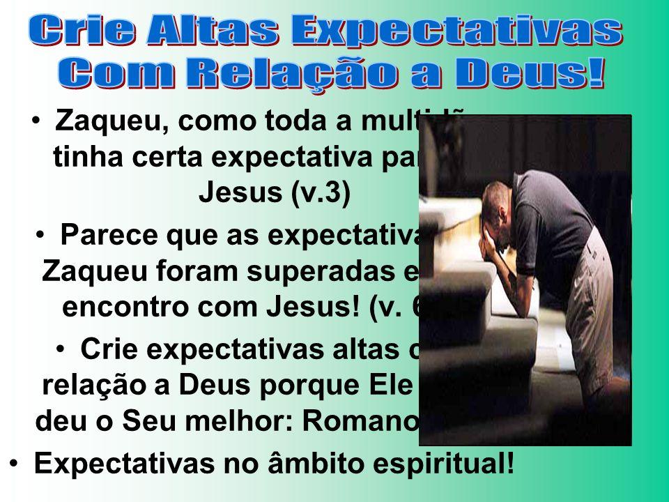 Expectativas no âmbito espiritual!