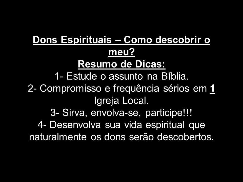 Dons Espirituais – Como descobrir o meu